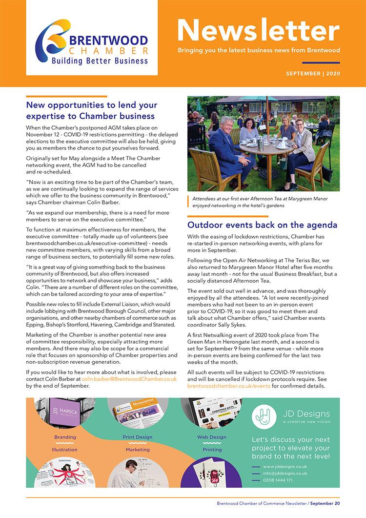 Brentwood Chamber of Commerce Newsletter August 2020