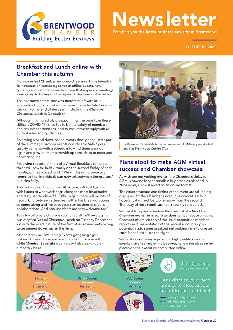Brentwood Chamber of Commerce Newsletter October 2020